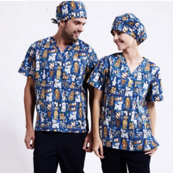 G9-325 fashionable Print Scrubs