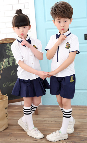 G8-321  popular pure cotton school uniforms