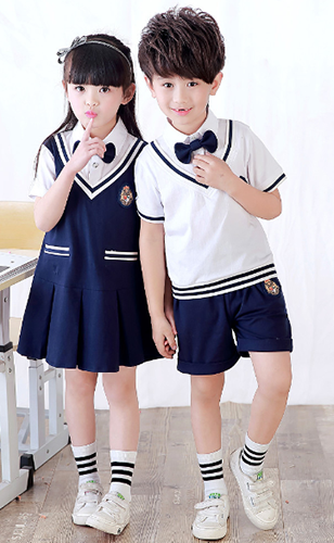 G8-323  100% cotton primary school uniforms