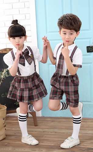 G8-367  lovely 100% cotton student uniforms