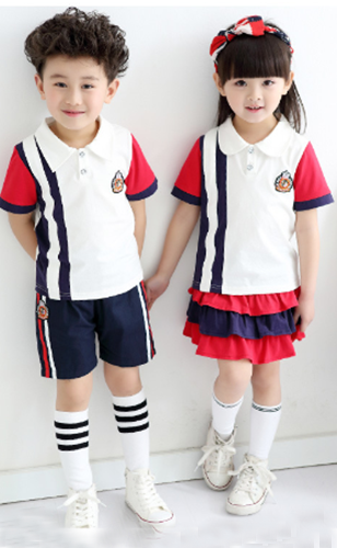 G8-505 kid's  children school uniforms in stock