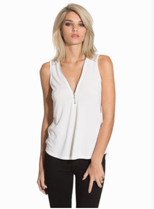 sleeveless chiffon top,  chiffon lady shirt,  china garment manufacturer