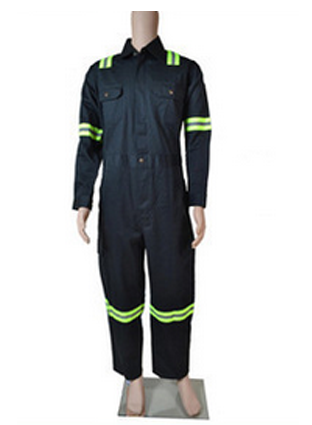 Malaysia hot sale fire-proof dark green long-sleeved one-piece overalls,  flame retardant one-piece protective clothing  0741